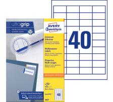 100 Bl L4743REV-100 Universal-Etik. A4, 1.200 Etik. ablösb., 99,1x42,3mm weiß